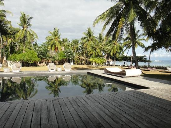The Ananyana Beach Resort & Spa: Pool area--watch out for uneven deck planks, can stick splinters in your barefoot!