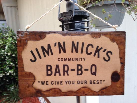 Jim N Nick's Bar-B-Q: We recently visited the Montgomery area and ordered take out!  We enjoyed our food so much we de