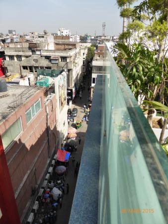 Taj Princess Hotel: View from roof top terrace.