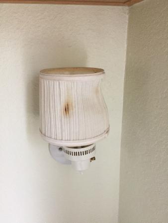 Doe Bay Resort and Retreat: sad sack light fixture in bedroom