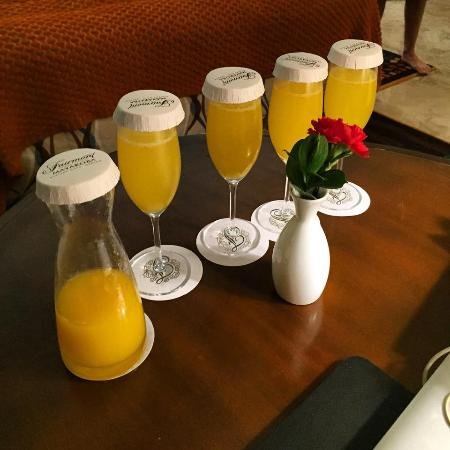 Fairmont Mayakoba: Morning Mimosa's