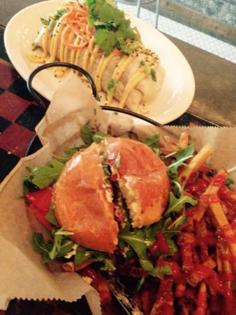 Worthy Kitchen: Beef Bulgogi Burrito, Pork burger