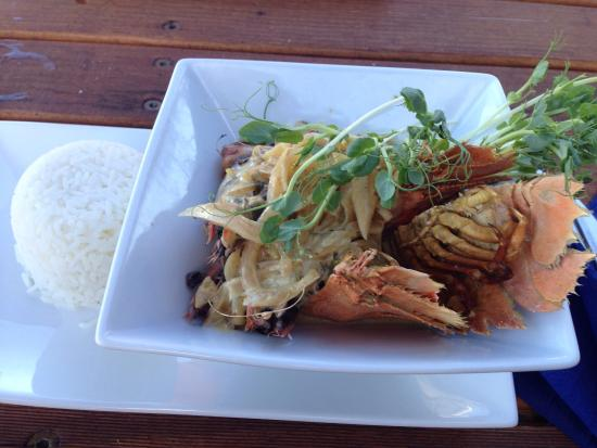 Slipway on Wallis: Bugs and prawns in satay sauce