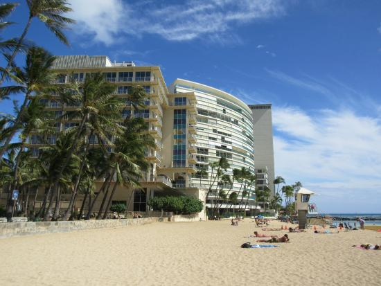 new otani hotel from the beach far left picture of the. Black Bedroom Furniture Sets. Home Design Ideas