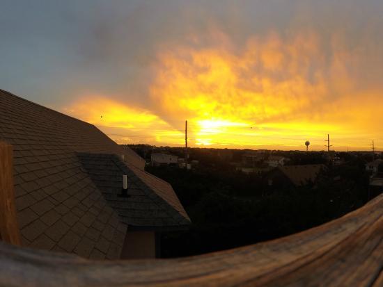 Spa Koru: Sunset from the villa