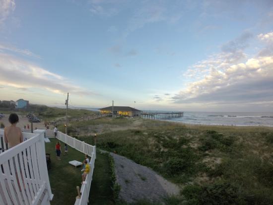 Spa Koru: View of the beach from the Beach Klub