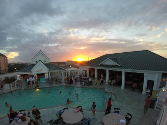 Spa Koru: Sunset from the Beach Klub