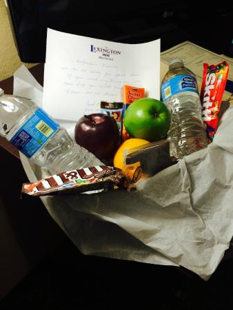 Lexington Inn - Ardmore: The condolence basket that the staff gave our family