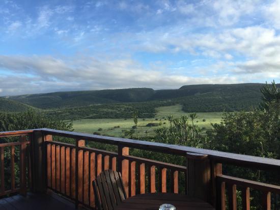 Addo Afrique Estate: Blick am Morgen von der Terrasse im 1. Stock