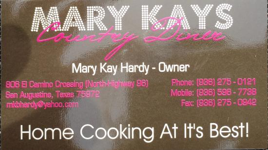 San Augustine, TX: Mary Kay's Country Diner