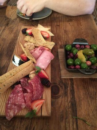 Finch and Fork: Charcuterie and warm Olives