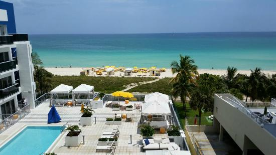 Hilton Cabana Miami Beach View From Room 623 And To The 3rd Floor Pool