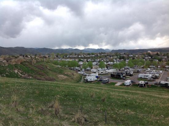 Dakota Ridge RV Park : 4/26/2015 view from top of dog run area