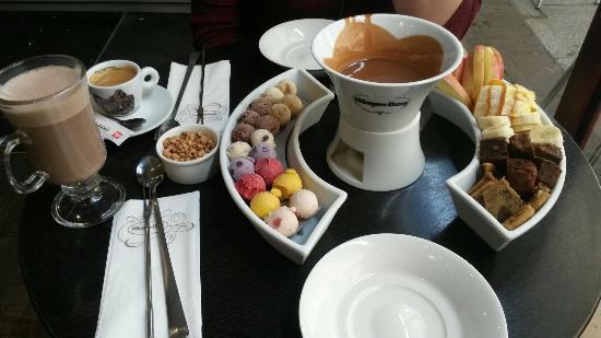Haagen dazs : La fondue !!! Un régale !