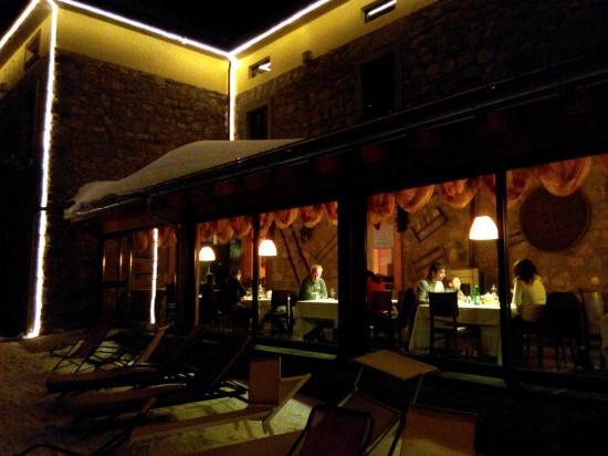 Hotel Maison de Neige: Cena romantica in questo magico posto