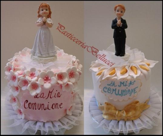 Favorito Torta per comunione bimbo e bimba - Foto di Pasticceria Bellucci  NA27