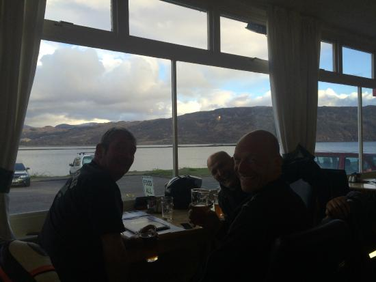 Lochcarron Hotel: view from the bar / dining room - yea i know i need a flash ;)
