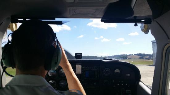 Остров Уаихеке, Новая Зеландия: View from the back before take off