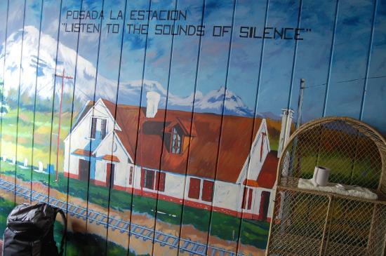 Otavalo Huasi I: parede do hostel