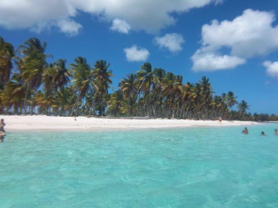 Bayahibe, Dominikanska Republiken: Canto de la playa desde el mar