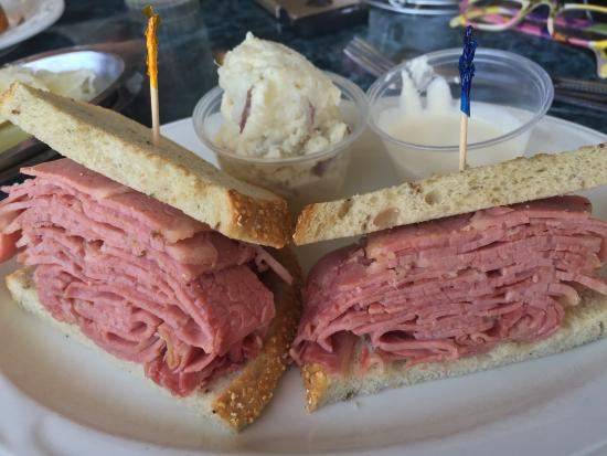 Sherman S Deli Corned Beef Sandwich