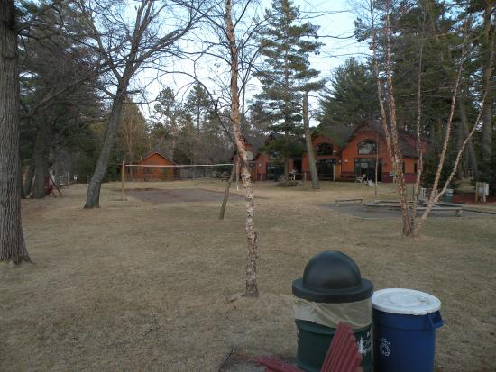 Good Ol' Days Family Resort: View of volleyball net and playground.