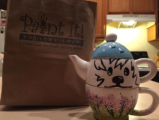 Paint It! Pottery Shop: All in one teapot