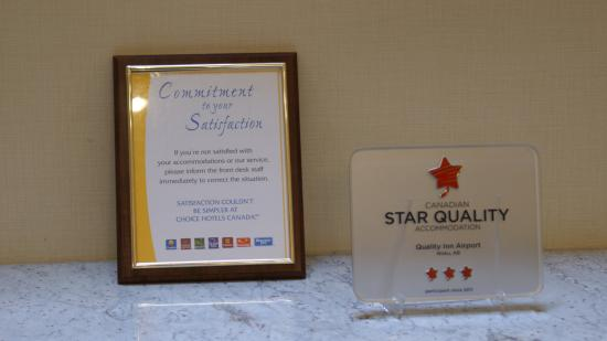 Quality Inn Airport - Edmonton: Star Service / Quality Service