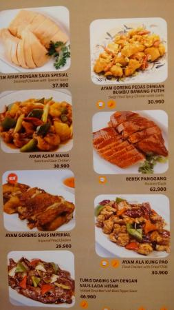 Menu Of Imperial Kitchen Dimsum Kuningan City Picture Of