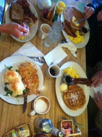 Breakfast at the Rocky Bay Cafe