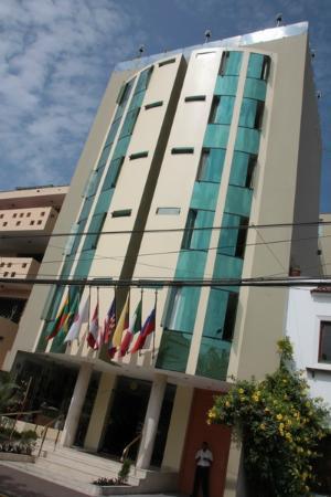 Embajadores Hotel : Флаги на входе