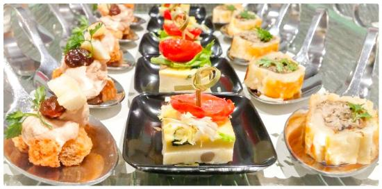 Canapes serving for cocktail party