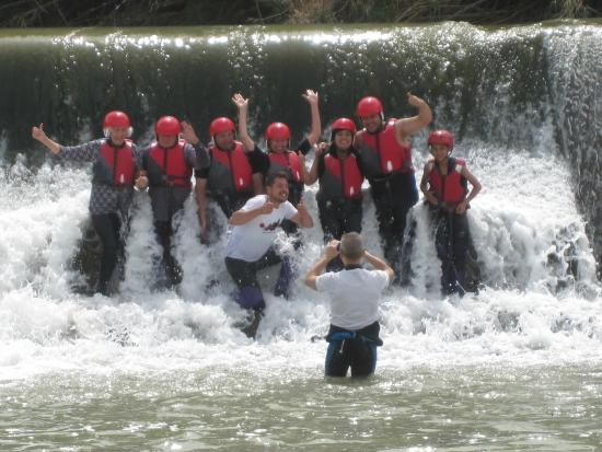 Brilliant day with MurciAventuras rafting in Blanca near Murcia, super team, wet gear provided.