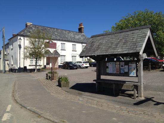 Half Moon Inn: Pub from across the village square