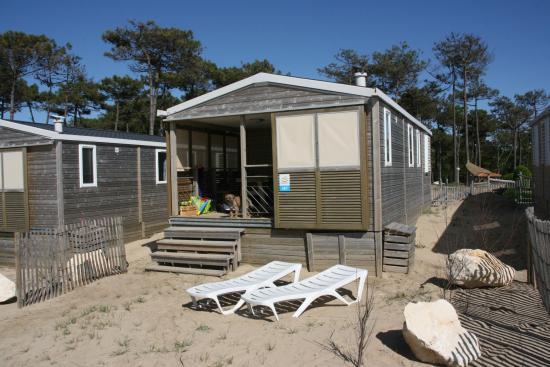 Camping Sandaya Soulac Plage : Notre lodge en face de la mer