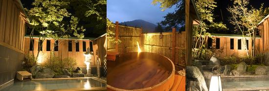 Shima Onsen Kashiwaya Ryokan: Private open-air Onsen bath