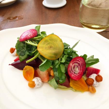 Beet Salad for lunch at Sea Grape