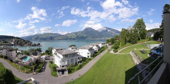 Spiez, Sveits: Standard room with lake view
