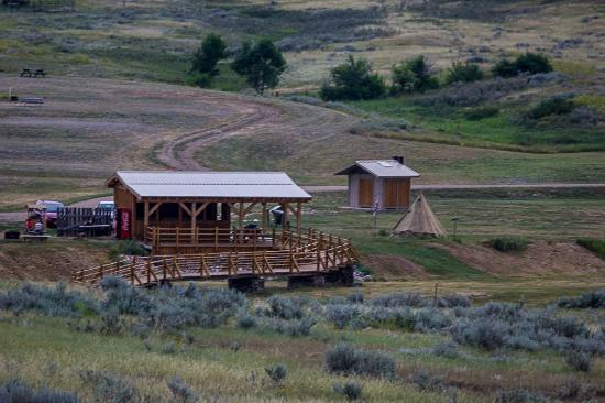 Grasslands National Park: Picnic Shelter at the Rock Creek Campground in East Block