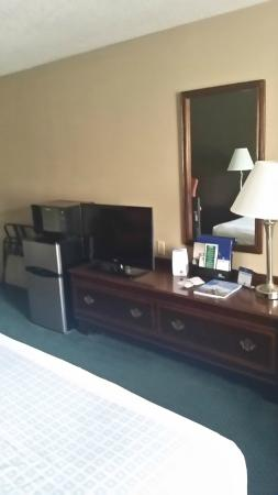 BEST WESTERN Smoky Mountain Inn: TV, small fridge and microwave