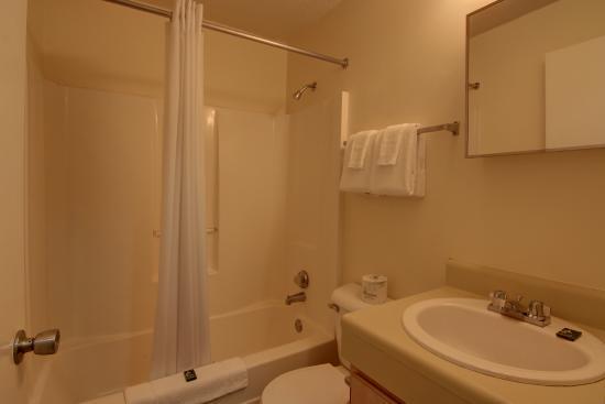 Stockbridge Extended Stay Hotel: Studio bathroom