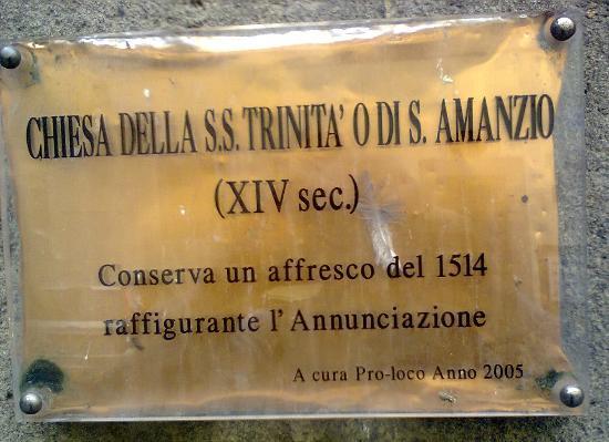 Vitorchiano, Italia: targa esplicativa