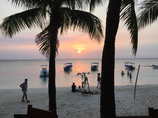 Bananarama Beach and Dive Resort: Every night.