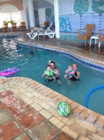 Four Seasons Fairways : Another family pic in indoor pool.