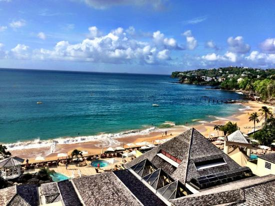 """Sandals Regency La Toc: View from our """"Emerald Honeymoon Oceanview"""" Room"""
