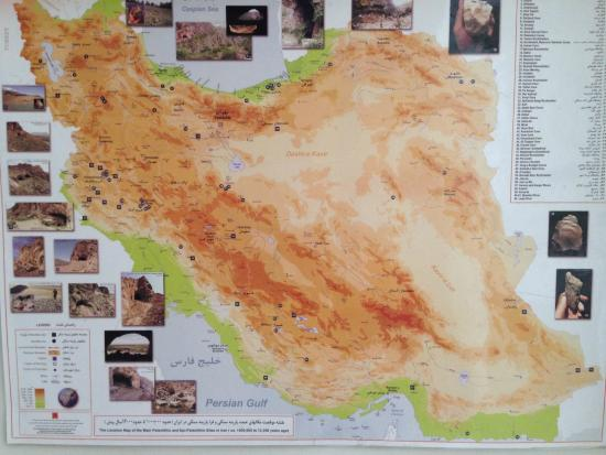 Location map of main Paleolitic sites in Iran 100012000 BC