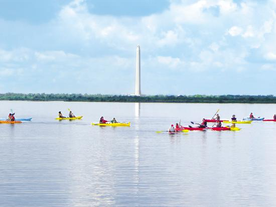 View of the San Jacinto Monument from the Baytown Nature Center