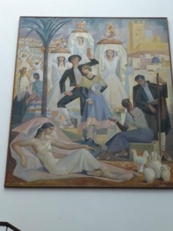 Museo de Bellas Artes Gravina: Bild im Stiegenhaus