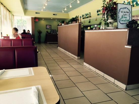 Eva's Pancake House: Pick from BOOTH or TABLE seating.