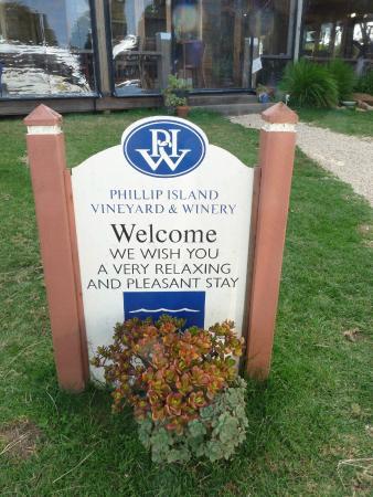 Phillip Island Winery: giardino